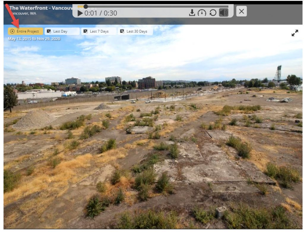 opening image of Web cam of Waterfront construction