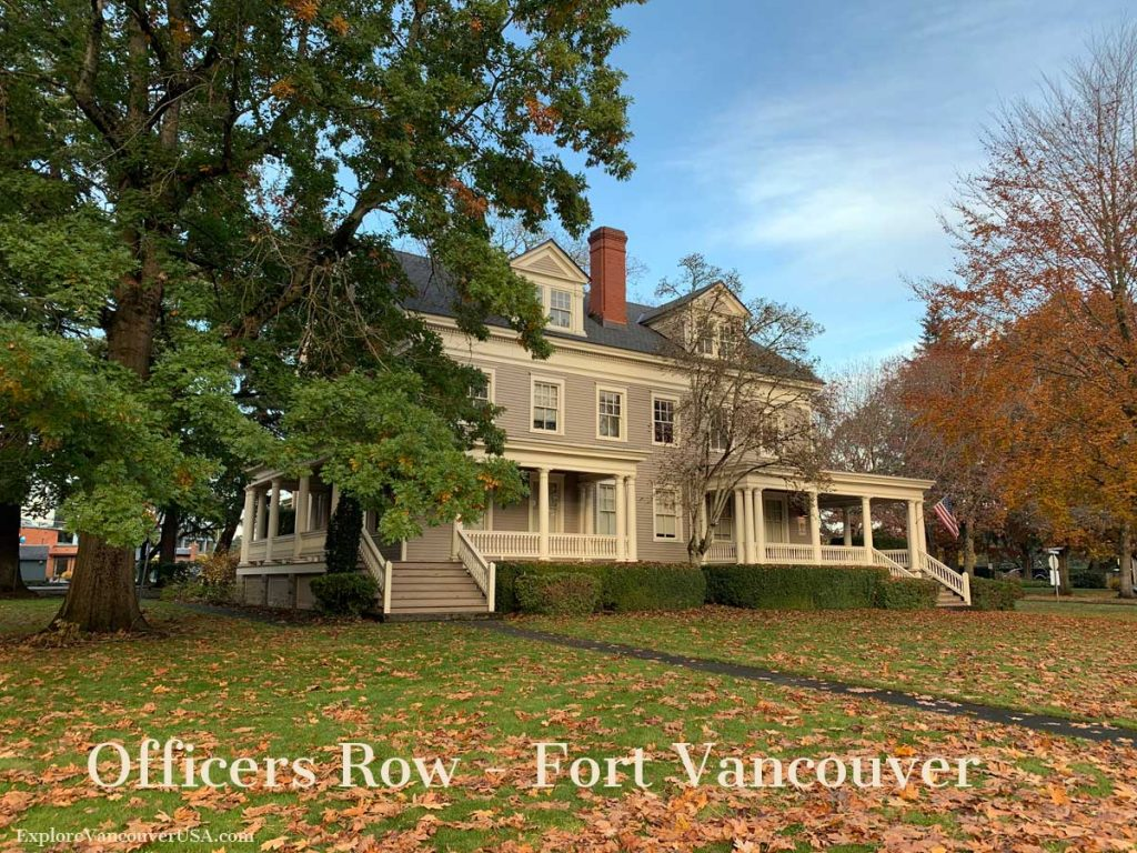 Officers Row at Fort Vancouver