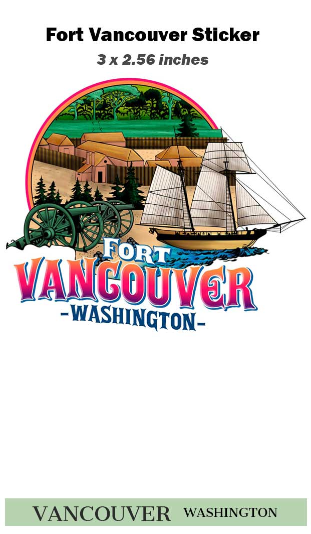 Fort Vancouver Sticker with ship
