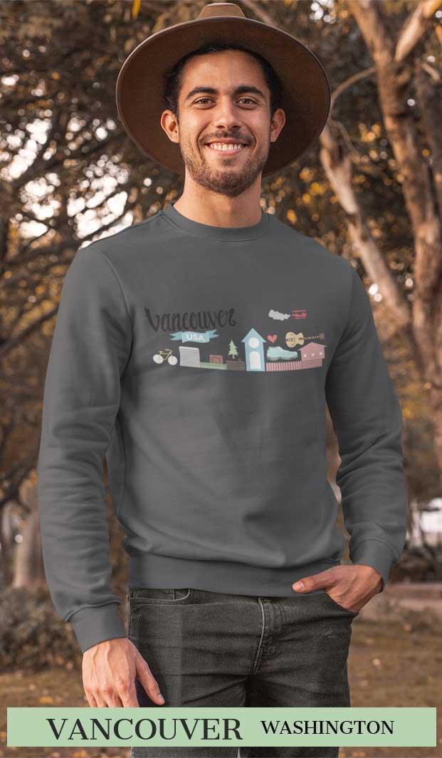 Vancouver Wa Sweatshirt for men