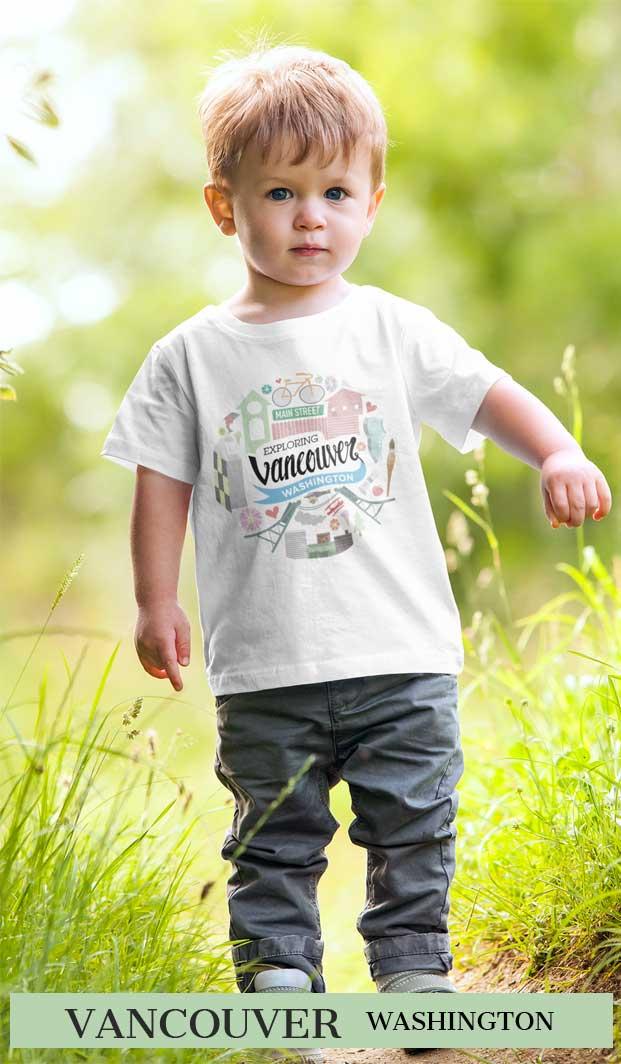 Explore Vancouver USA Toddler T Shirt