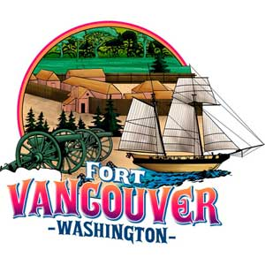 Fort Vancouver Magnet with Ship